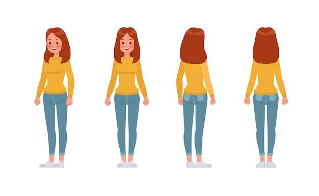 Женщина дизайн персонажей.