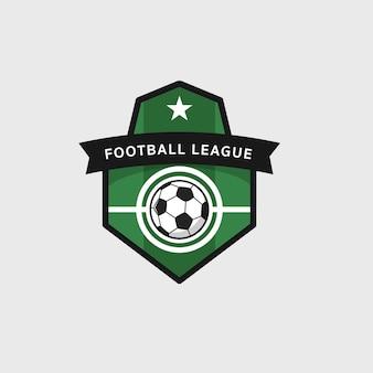 サッカーフットボールバッジ、ベクトルイラスト