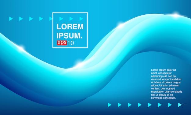 バナー青色の液体。背景抽象的な流体。