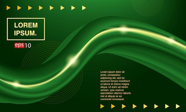 背景抽象的な流体。緑色の液体をバナーで送る。