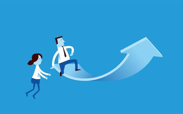 Иллюстрация ведущей роли бизнеса