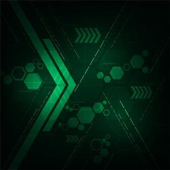 暗い緑色の背景のデジタル作品。