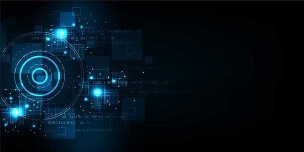 Векторный фон технологии в концепции цифрового.