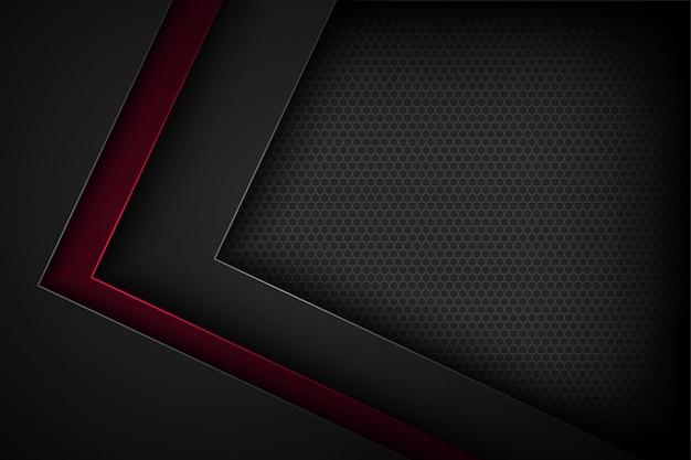 Черный абстрактный фон с перекрывающимися характеристиками.