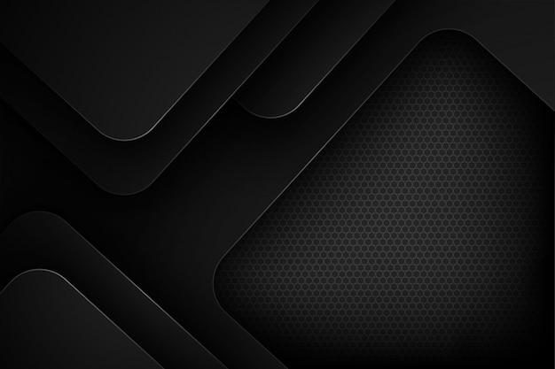 重複する特性を持つ黒の抽象的なベクトルの背景。