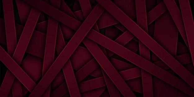 重複する特性を持つ暗い赤の抽象的なベクトルの背景。