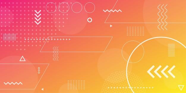 要素として最小限のジオメトリを使用してカラフルな抽象的な背景。
