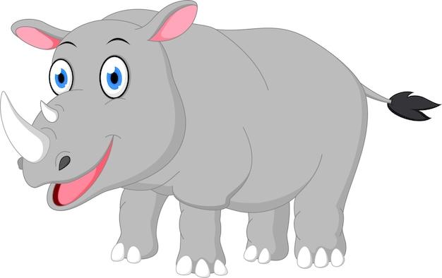 Счастливый мультфильм носорога