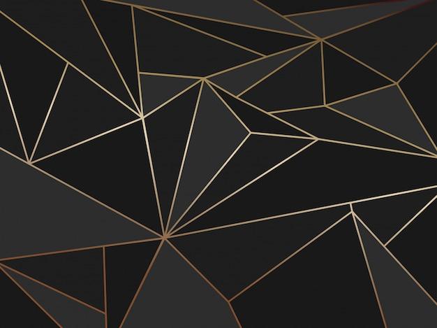 抽象的な黒ポリゴン芸術的な幾何学