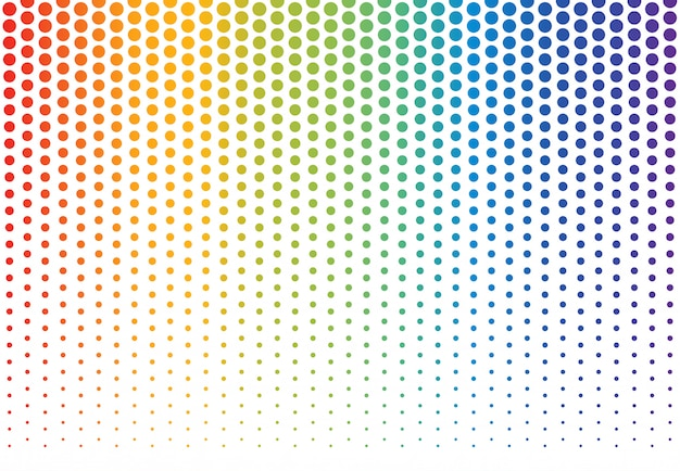虹の水玉の背景