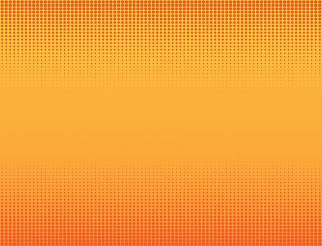 オレンジ色のハーフトーンの背景