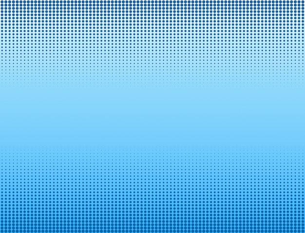 青いハーフトーンバナーの背景