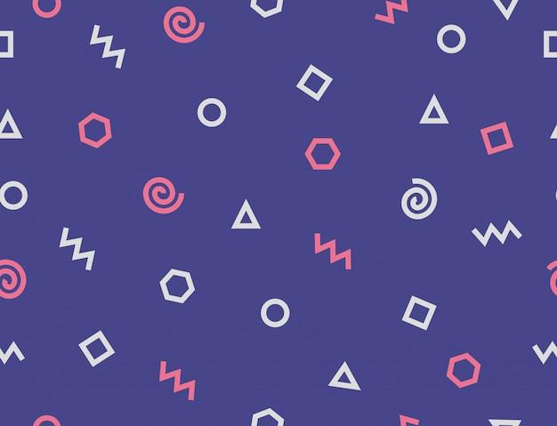 抽象的な幾何学的形状パターン