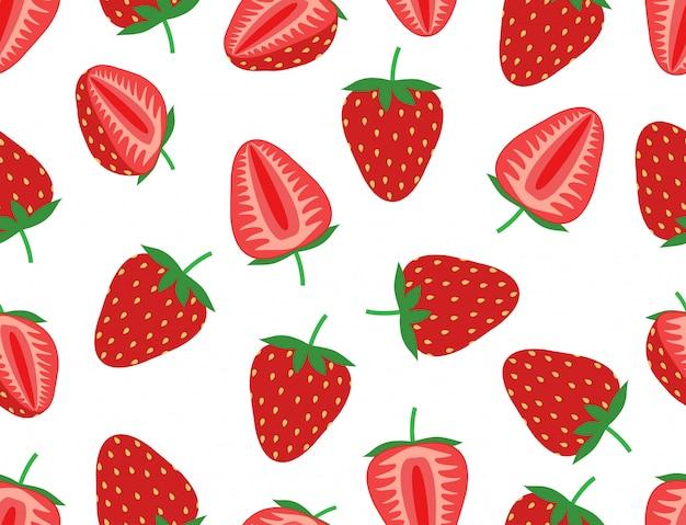 新鮮なイチゴのシームレスパターン