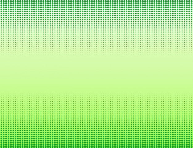 緑のハーフトーンバナーの背景