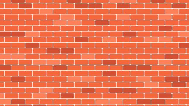 赤またはオレンジのレンガの壁の背景