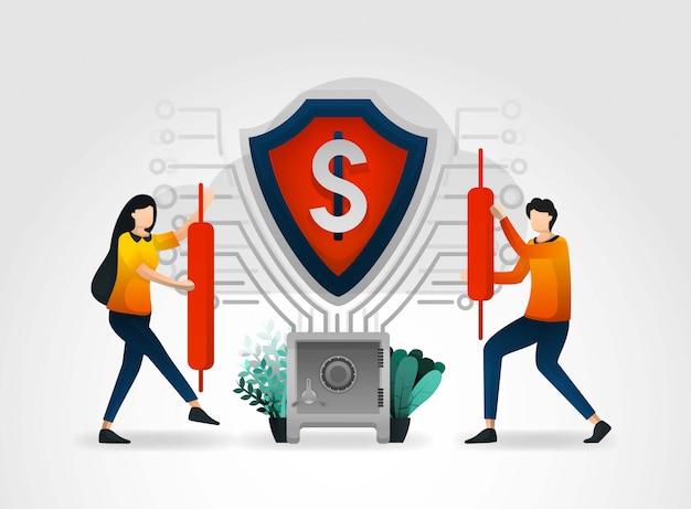 Банковская сеть, защищенная щитами