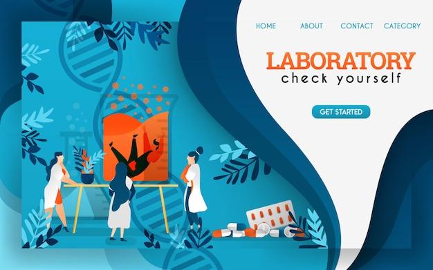 Ученые в лаборатории исследуют и проверяют сохраненных людей. плоский мультфильм векторные иллюстрации