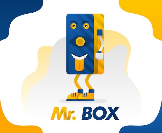 Коробка монстра или коробка мистера могут быть применены для футболок