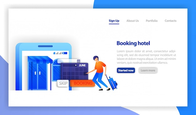 モバイルホテル予約アプリ