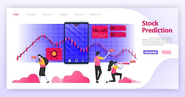Целевая страница прогноза акций