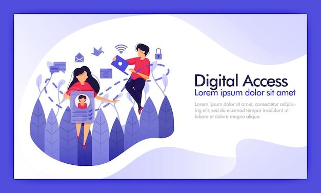 Доступ к цифровым данным и социальным сетям.