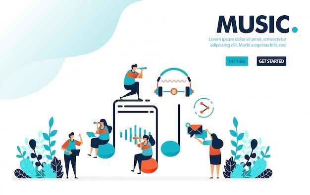 Музыка и развлечения, слушайте, создавайте и делитесь музыкой с социальными сетями.