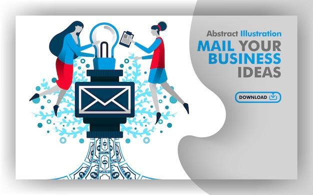 Плакат почты твоей бизнес-идеи