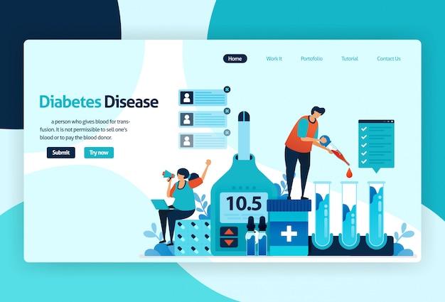 Целевая страница диабетической болезни