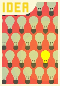 電球のアイコンで成功したビジョンアイデアコンセプトだと思います。