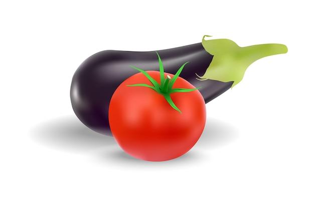 ナスとトマトのベクトル