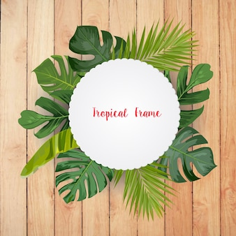 トレンディな夏の熱帯の葉ベクトルデザイン