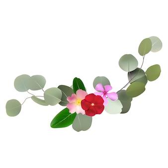 花と葉のデザイン