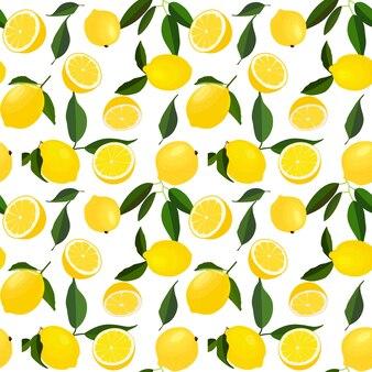 レモンのシームレスなパターン