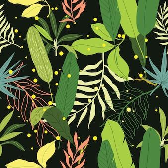 熱帯のシームレスパターン