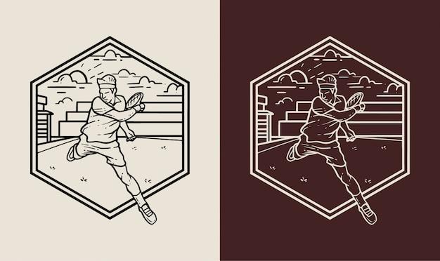 Значок логотипа теннисного клуба
