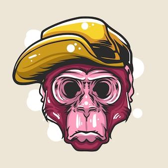 Иллюстрация обезьяны обмана затемнения