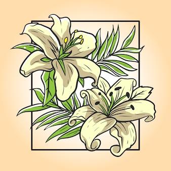 Иллюстрация цветок орхидеи