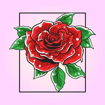 Иллюстрация цветка роз