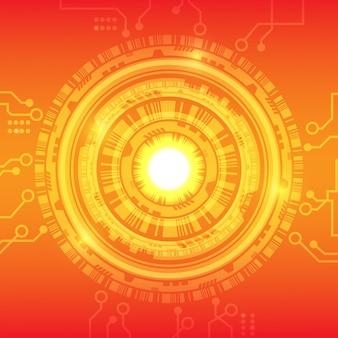 オレンジ赤黄色技術の背景。