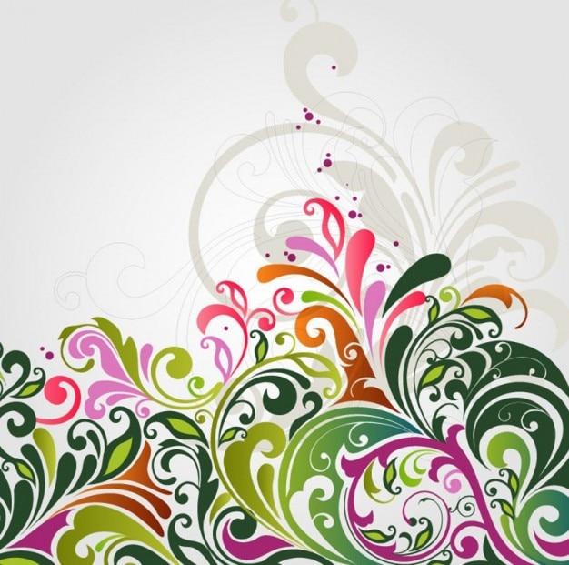 抽象的な花の背景のベクトル図