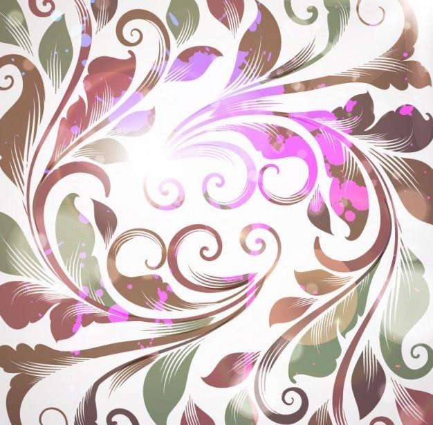 Бесплатно ретро цветочные векторные иллюстрации фона