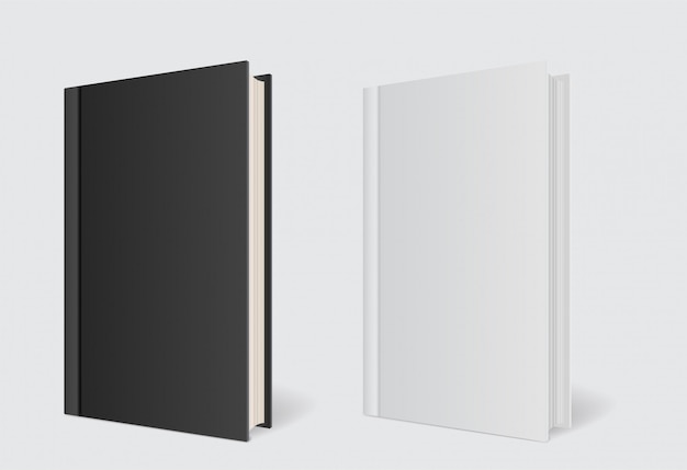 Шаблон книги обложки макета на сером