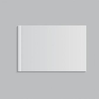 白の空白の本の表紙