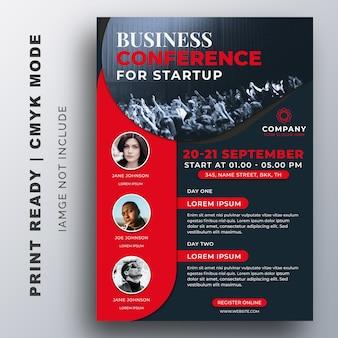 ビジネスコンファレンスフライヤークリエイティブデザインテンプレート