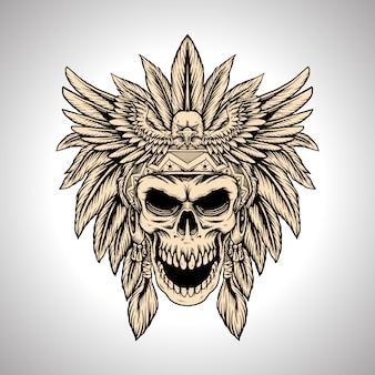 Иллюстрация рука рисунок главный череп орла