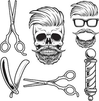 Набор элементарных парикмахерских