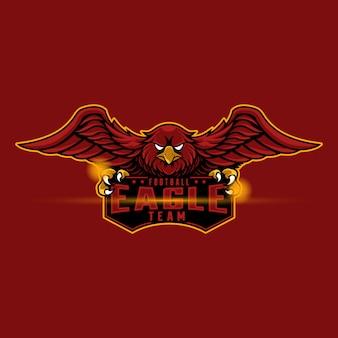 Талисман логотип красный орел