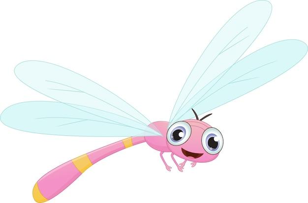 Счастливый мультфильм стрекозы