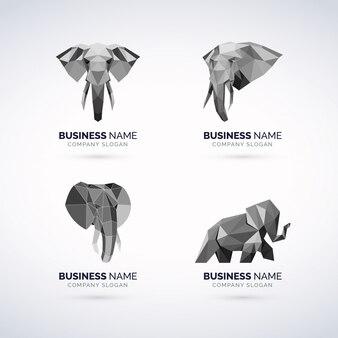 Набор слонов с геомагнитным логотипом